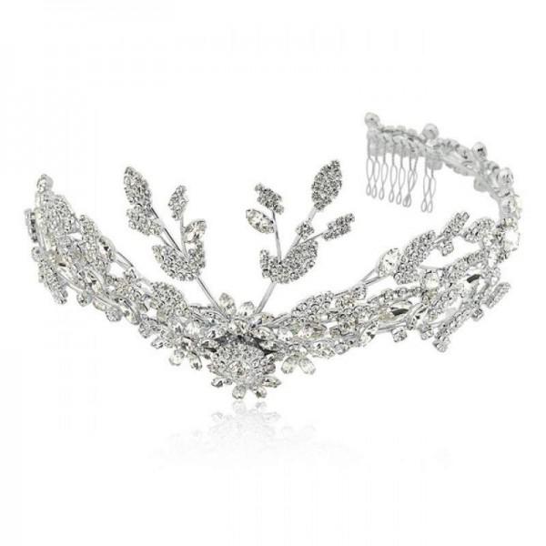 Tiara para noiva com cristais swarovski e banho de ródio