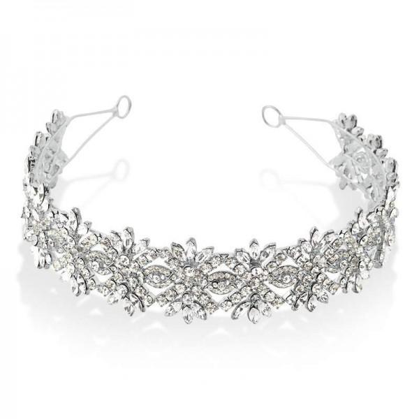 tiara porta coque com detalhado com cristais swarovski