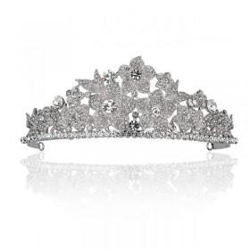 Coroa banhada em ródio com cristais swarovski