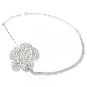 Headband com design floral e cristais swarovski