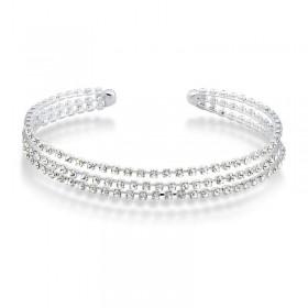 Tiara cravejada de cristais swarovski