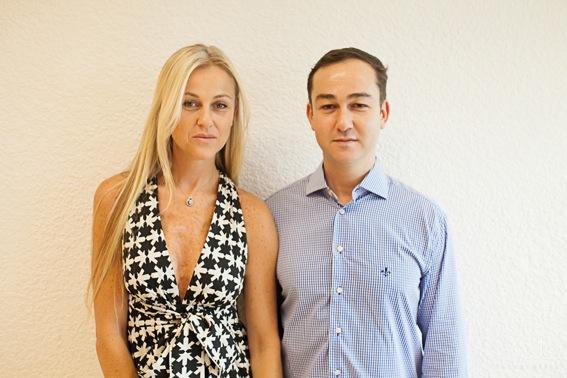 Fundadores da Shine Bride, Michelle e Daniel